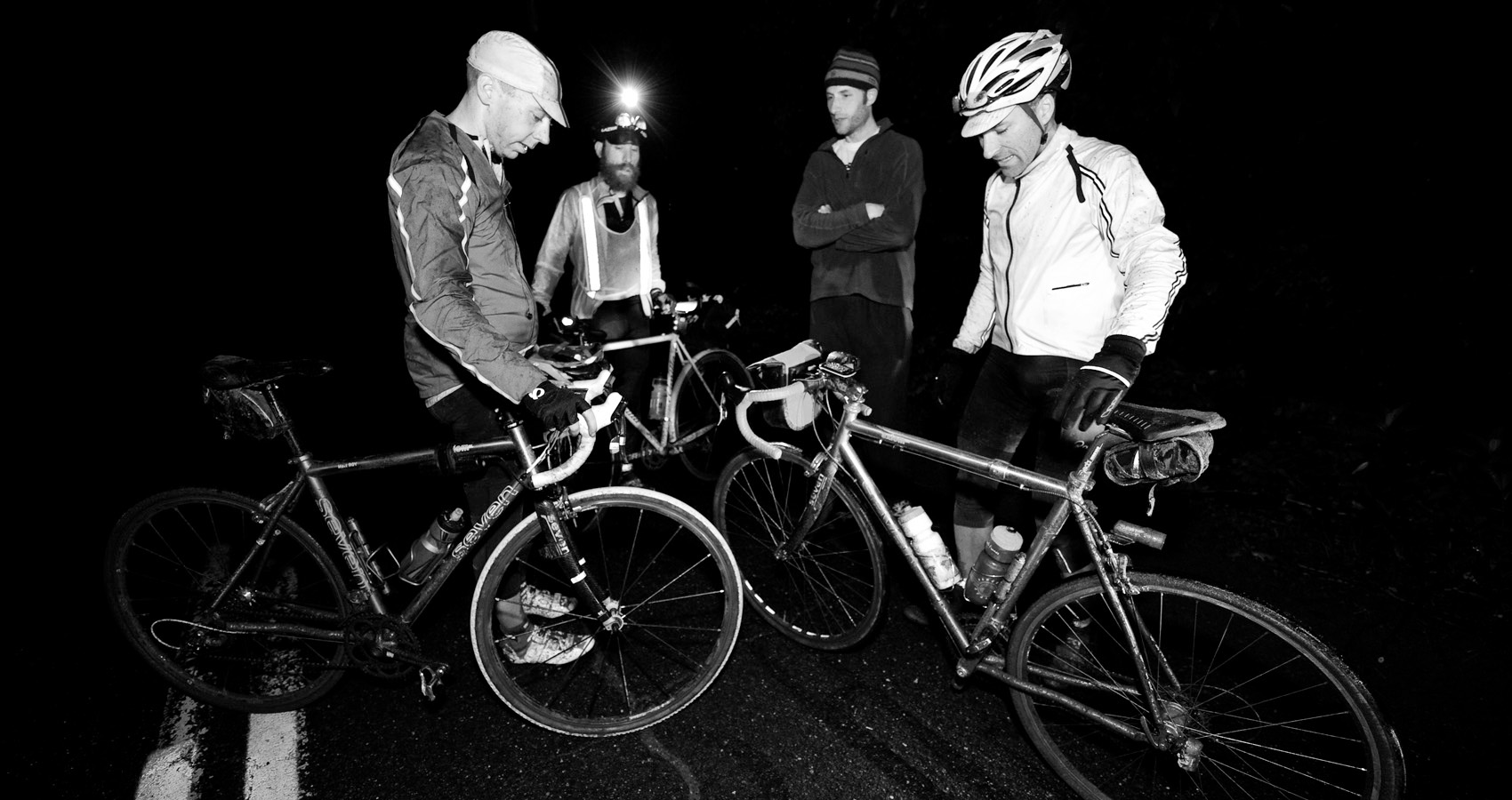 riders gather in the black of night to ride long distances together